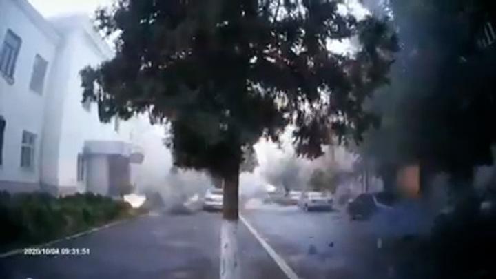 Министерство обороны Армении показало видео обстрела Степанакерта