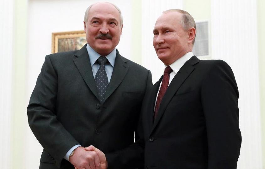 Александр Лукашенко в поздравлении Владимиру Путину назвал его надежным другом Белоруссии