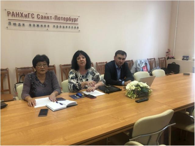 Слева направо: Ирина Нам, Елена Ведута и Юрий Харитонов