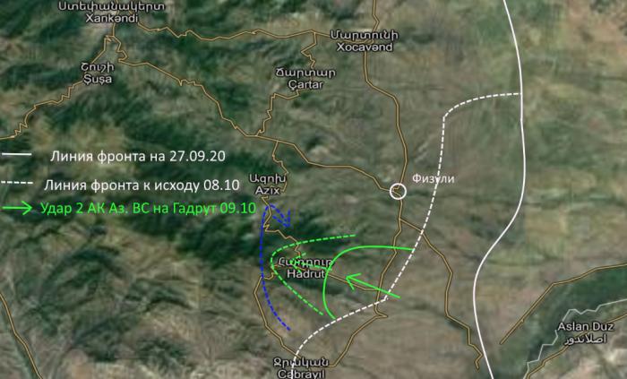 Война в Карабахе: Азербайджанская армия взяла Гадрут: подтверждено со стороны армян