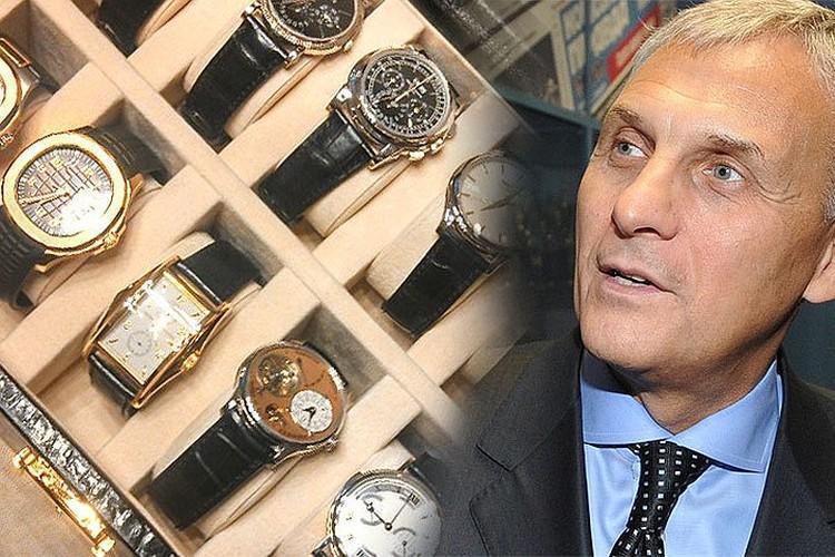 Целую коллекцию дорогих наручных часов собрал губернатора Сахалина Хорошавин