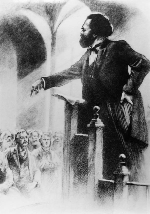 Выступление перед соратниками. 1883 год.