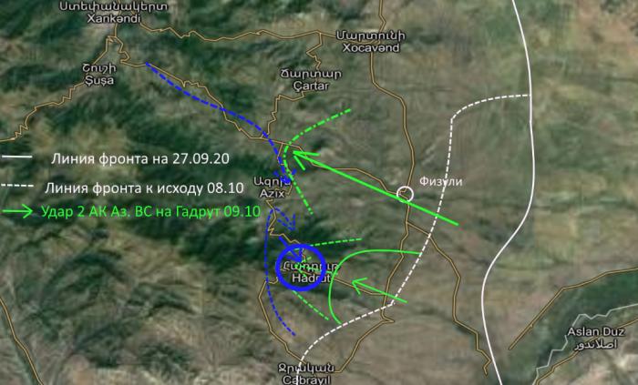 Война в Карабахе 13 октября: Гадрут постепенно превращается в карабахский Сталинград