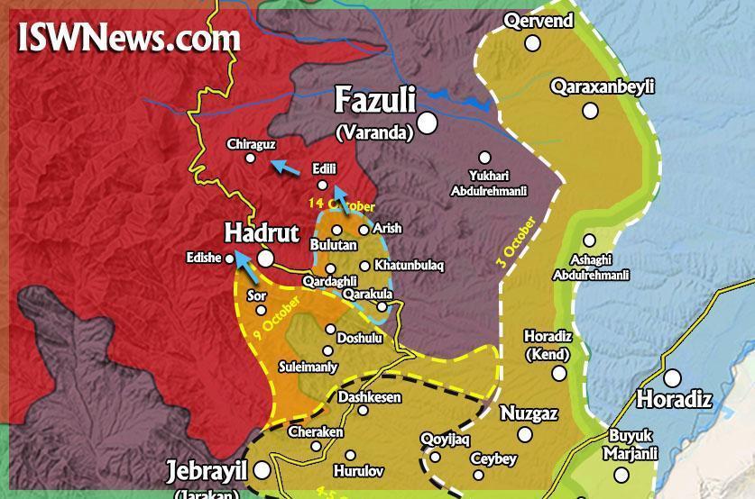Коротко по ситуации в Нагорном Карабахе на 16 октября 2020
