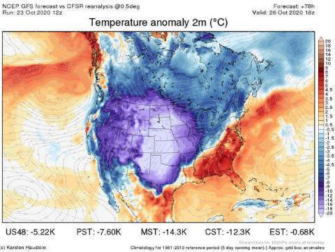 На США идёт аномальный холод, дыхание оного они уже ощутили на минувшей неделе