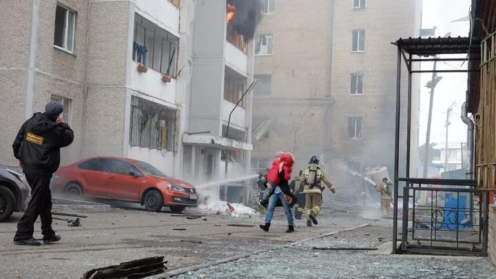 Больница в Челябинске. Мощный взрыв сняли на видео
