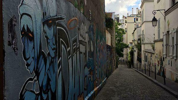Граффити в Париже