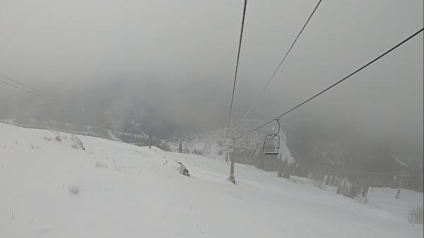 Снегопад в Шерегеше