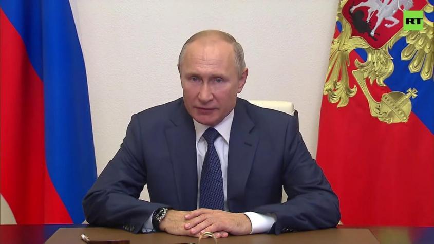 Заявление Владимира Путина о прекращении огня в Нагорном Карабахе