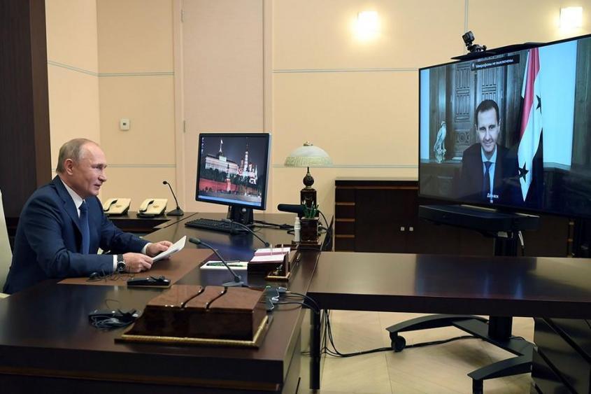 Президент России провел виртуальную встречу с Башаром Асадом