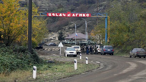 КПП в городе Шуша в Карабахе