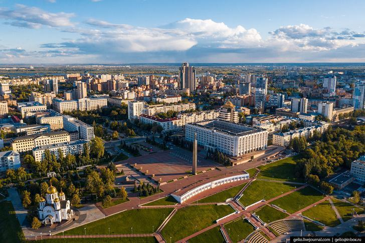 Фото Самары с высоты – космический город на Волге