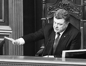 Порошенко попросил Россию закрыть границу