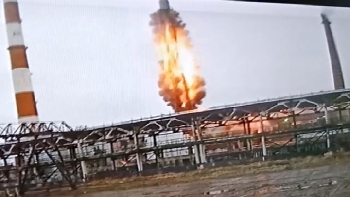 Момент мощного взрыва, прогремевшего в Вологде попал на видео