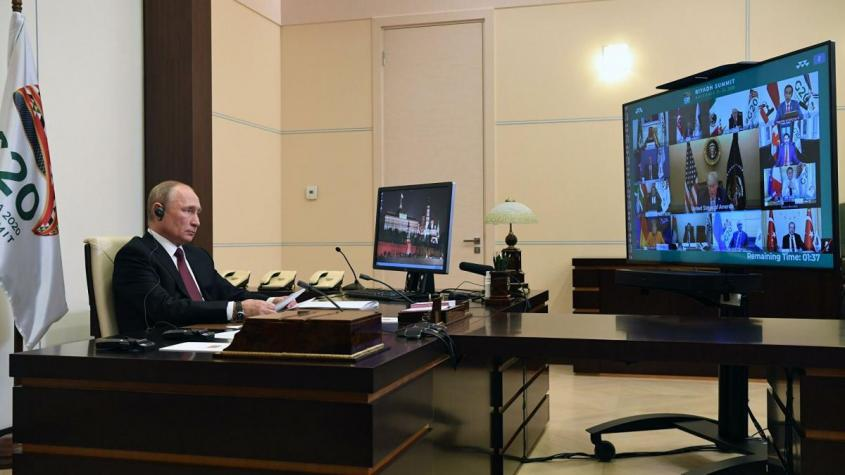 Президент РФ Владимир Путин принимает участие в работе саммита Группы двадцати в режиме видеоконференции – РИА Новости, 1920, 22.11.2020