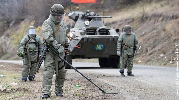Русский офицер получил ранение при взрыве мины в Карабахе