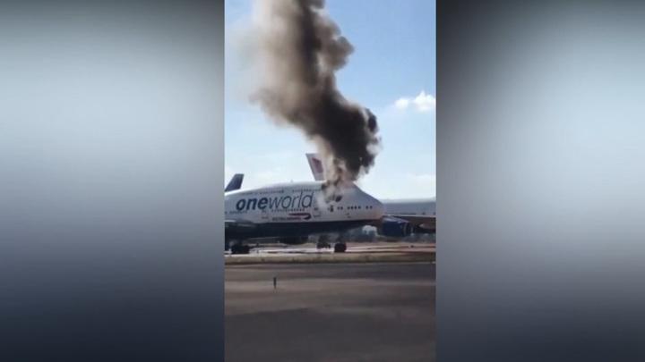 Boeing 747 загорелся по неизвестным причинам в испанском аэропорту Кастельона