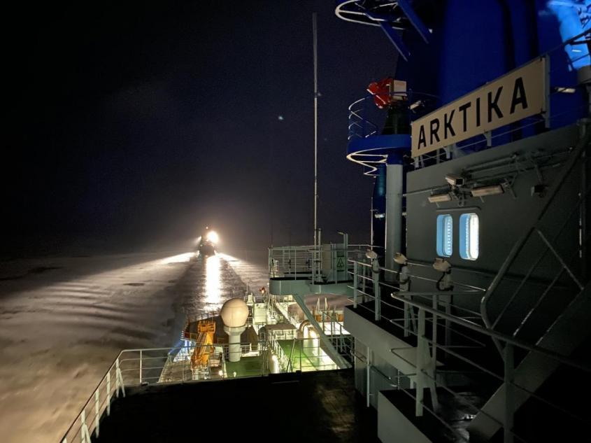 Атомный ледокол «Арктика» обеспечил первую проводку по Севморпути