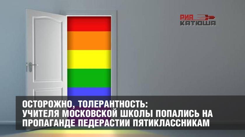 Учителя московской школы попались на пропаганде половых извращений пятиклассникам