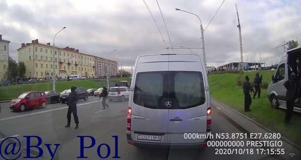 Майдан в Белоруссии. Что называется «взгляд из броневика» силовиков