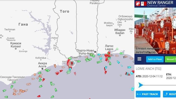 Пираты снова захватили танкер в Гвинейском заливе