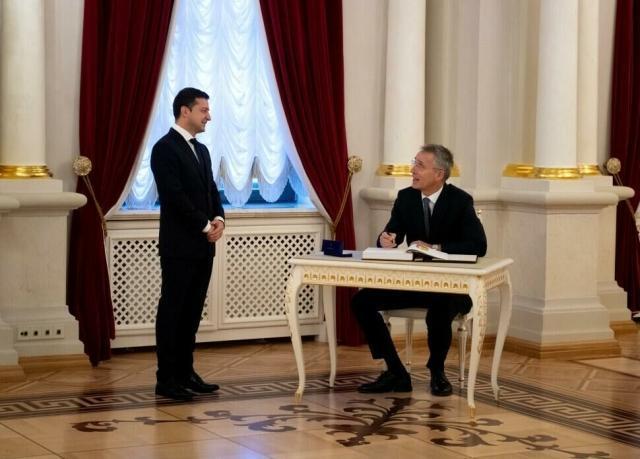 Встреча генерального секретаря НАТО Йенса Столтенберга и Владимира Зеленского в Одессе