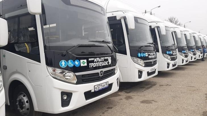 50 новых автобусов прибыли в Керчь