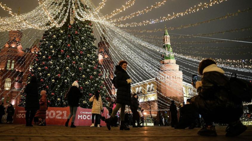 Новогодняя елка на Манежной площади в Москве – РИА Новости, 1920, 26.12.2020