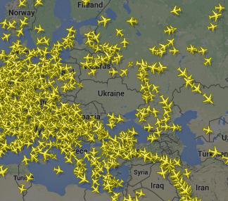 Над всей Украиной безоблачное небо