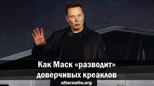 Как Маск «разводит» доверчивых креаклов