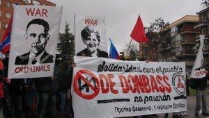 Испанские антифашисты устроили шествие в Мадриде в поддержку Донбасса