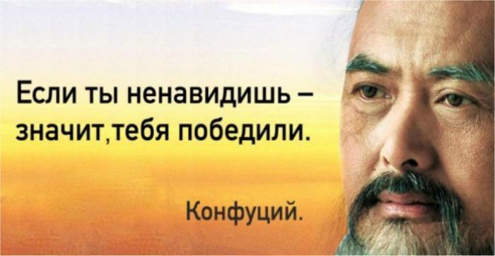 «Если ты ненавидишь, значит тебя победили» – это не цитата мудрого человека, это – сама мудрость