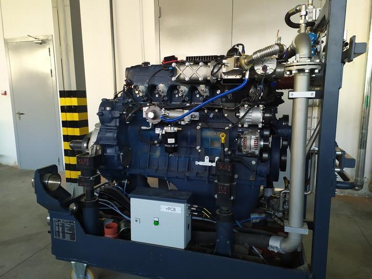 «КАМАЗ» разработал опытный образец нового газового двигателя Р6 для магистральных тягачей