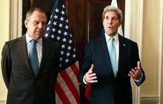 Министр иностранных дел России Сергей Лавров и госсекретарь США Джон Керри. Март 2014 г.