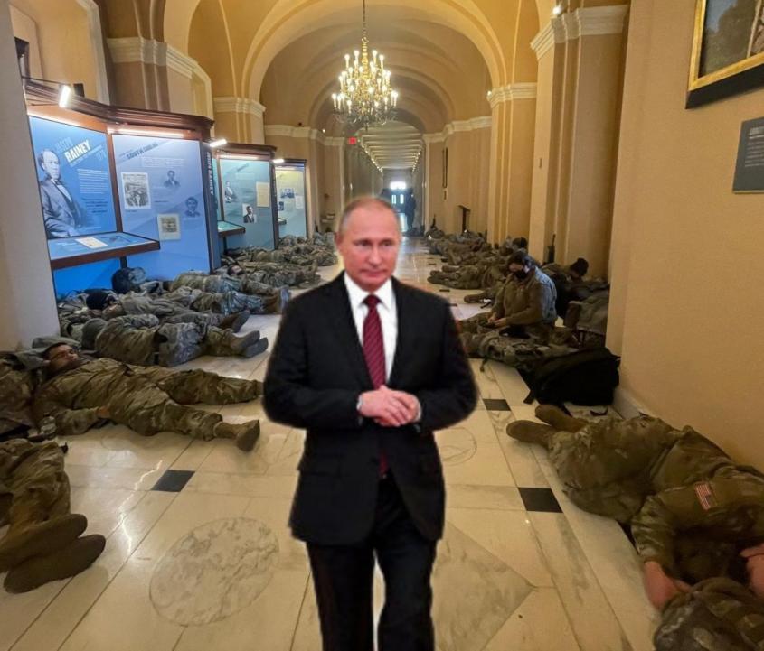 Фото из Капитолия показали: армия США уже побеждена