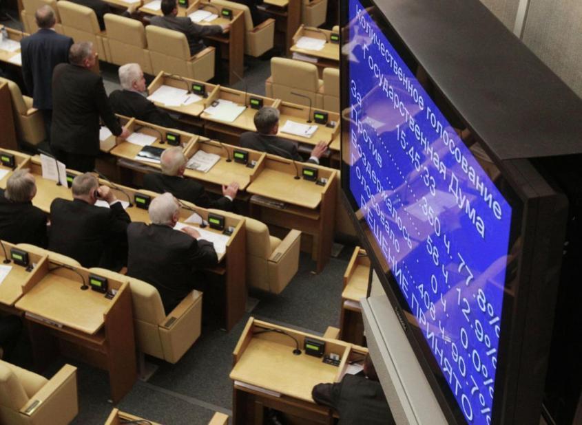 Экран с результатами голосования по законопроекту – РИА Новости, 1920, 11.12.2015