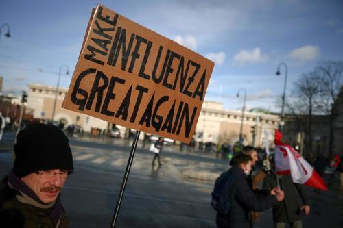 В Вене более 10 000 протестующих маршируют в знак протеста против драконовских ограничений