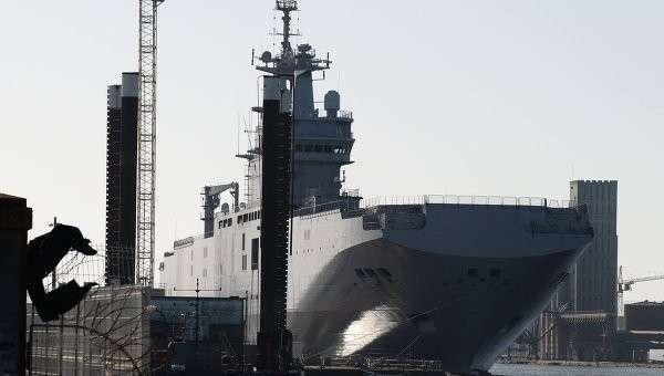 Корабль класса Мистраль. Архивное фото