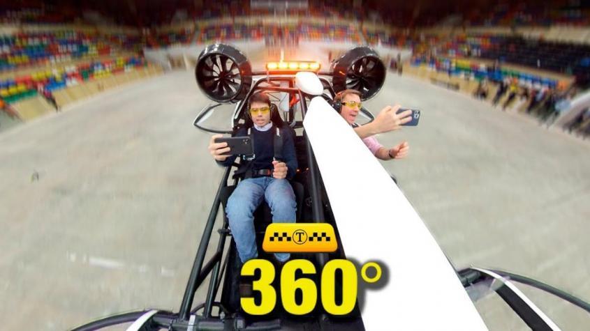 Летающее такси в Москве «Ховер». Первые в мире кадры полёта в формате 360