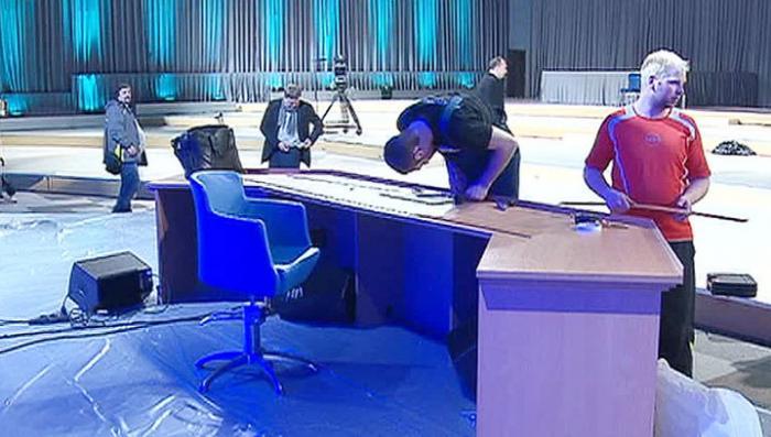 Журналисты готовы к пресс-конференции главы государства