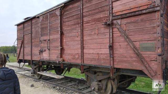 Поезд, на котором привозили людей в Освенцим (Аушвиц)