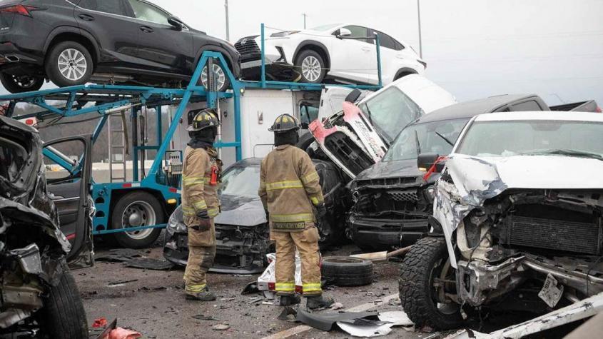 В Техасе в крупном ДТП столкнулись около ста автомобилей