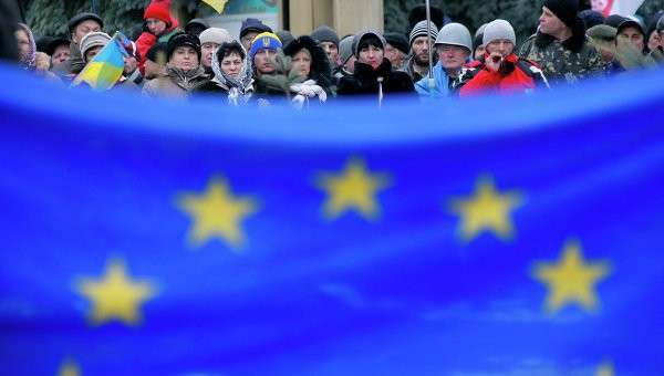 Флаг Евросоюза. Киев