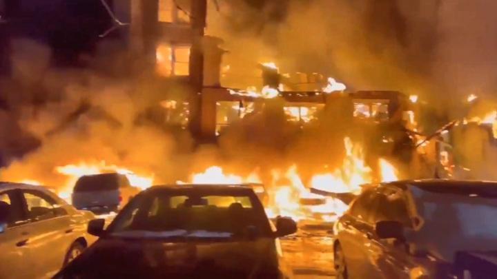 Из-за аномальных морозов в Техасе сгорел целый жилой квартал