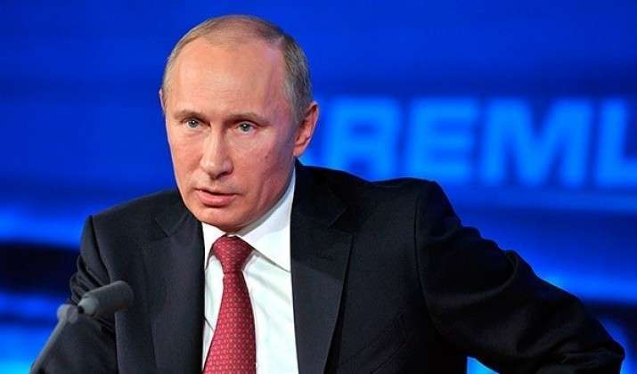 Пресс-конференция Путина В.В. за кадром массового обсуждения