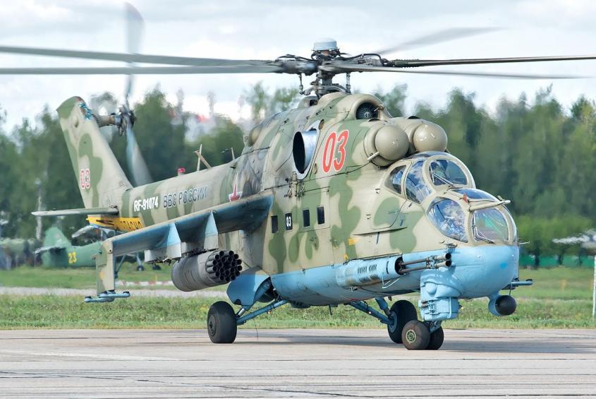 Может ли вертолет сбить истребитель? Может, если это русский вертолёт!