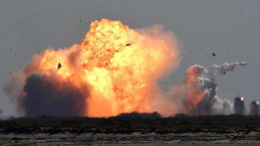 Очередной прототип корабля Starship взорвался после посадки в Техасе