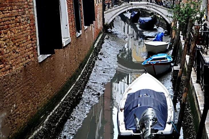 В Венеции после сильного наводнения наступила настоящая засуха