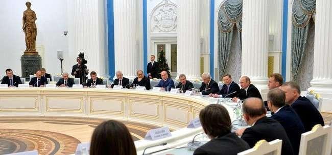 Встреча Владимира Путина с представителями деловых кругов Фото: kremlin