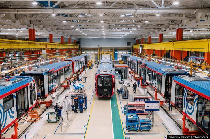 «Метровагонмаш» – как производят самые современные поезда метро. Фоторепортаж
